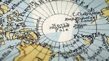 The North Pole macro of a vintage map with tip of Greenland and islands north of Canadian mainland. (Nicholas Belton/iStockphoto/Nicholas Belton/iStockphoto)
