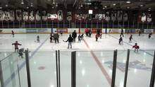 The Kirkland Lake arena. (The Globe and Mail/Roy Macgregor)