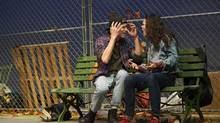 Graeme McComb and Haley McGee in Moss Park (MICHAEL COOPER)