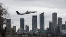 A Porter Airlines plane take off from Toronto's Billy Bishop Airport on Wednesday April 10, 2013. (Chris Young for The Globe and Mail)