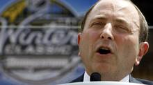 NHL commissioner Gary Bettman addresses the media during a news confernece on Tuesday, July 27 2010, at Heinz Field in Pittsburgh. Bettman will participate in this week's world hockey summit in Toronto. THE CANADIAN PRESS/AP-Keith Srakocic (Keith Srakocic)
