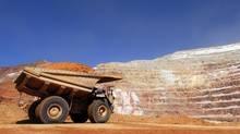 A mining truck drives through Barrick Gold Corp.'s Veladero mine in the San Juan province of Argentina. (DIEGO LEVY/BLOOMBERG NEWS)