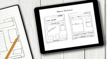 website wireframe sketch on digital tablet screen (ronstik/Getty Images/iStockphoto)