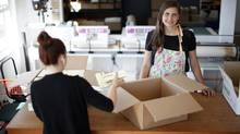 Abeego owner Toni Desrosiers hopes to take her Victoria-based food wrap business from a cottage industry to a global player that can compete with giants, without sacificing the integrity of the product. (CHAD HIPOLITO/THE GLOBE AND MAIL)