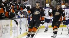 Ryan Getzlaf scored just three goals in his first 44 games for the Anaheim Ducks this season before vaulting to a player-of-the-month performance in February. (Jae C. Hong/THE ASSOCIATED PRESS)