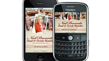 Using an iPhone or BlackBerry, you can now find wine pairings using a brand new unique mobile application developed by Ottawa wine expert Natalie MacLean. (HO)