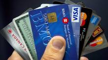 Various credit cards are seen in this file photo. (Ryan Remiorz/THE CANADIAN PRESS)