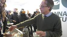 Marc Emery, founder of the Cannabis Culture dispensary chain, in one of his recreational cannabis storefronts in Montreal last December. (Julien Besset/AFP/Getty Images)