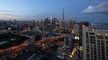 The Toronto skyline photographed from a condo balcony in Toronto June 8, 2012 (Deborah Baic/The Globe and Mail)