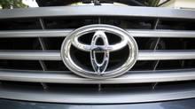 The Toyota logo. (Deborah Baic/The Globe and Mail)