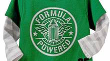 """Old Navy bodysuit with the words """"Formula Powered"""" on the front"""