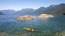 Paddling near Prideaux Haven in Desolation Sound on B.C.'s northern Sunshine Coast. (Darryl Leniuk for The Globe and Mail)