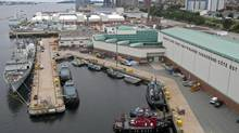 The Maritime Forces Dockyard and downtown Halifax. (Andrew Vaughan/THE CANADIAN PRESS)