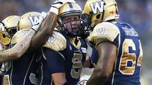 Winnipeg's last home game on Aug. 7 was a 23-17 loss to Saskatchewan, featuring six Bomber turnovers the Roughriders used to score 20 points in front of the first sellout crowd of the season. (John Woods/The Canadian Press)