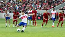 Toronto FC forward Sebastian Giovinco (10) takes a penalty kick during the first half against Real Salt Lake at Rio Tinto Stadium. (Russell Isabella/USA TODAY Sports)