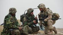 Canadian soldiersinvolved in training the Afghan police and army, will be gone by March (MCpl Marc-Andre Gaudreault/MCpl Marc-Andre Gaudreault)