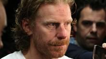 Ottawa Senators team captain Daniel Alfredsson talks to reporters in Ottawa Thursday May 23, 2013. (The Canadian Press)