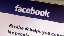 In this Feb. 11, 2011 photo, a Facebook page is seen on a computer in Montpelier, Vt. (Toby Talbot/AP)