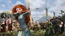 "Merida in a scene from Pixar's Brave. At least the film doesn't tiptoe around the cruelty of her arranged marriage. Merida, the protagonist of ""Brave,"" is Pixar's first leading heroine, a Scottish princess who had several incarnations on her way to the screen. (Disney/Pixar via The New York Times) -- NO SALES; FOR EDITORIAL USE ONLY WITH STORY SLUGGED FILM-PIXAR-HEROINE-ADV17. ALL OTHER USE PROHIBITED. -- PHOTO MOVED IN ADVANCE AND NOT FOR USE - ONLINE OR IN PRINT - BEFORE JUNE 17, 2012. (DISNEY/PIXAR/NYT)"