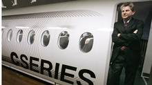 Gary Scott, president of new commercial aircraft at Bombardier, in a C Series mock-up in Montreal . (IAN BARRETT/The Canadian Press)