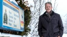 Rob Creasser, spokesperson for The Mounted Police Professional Association of Canada, stands outside the RCMP Detachment in Kamloops B.C. on Dec. 28, 2015. (Jeff Bassett/Jeff Bassett)