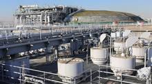 The Tokyo Gas Ohgishima LNG Terminal. (NATHAN VANDERKLIPPE/THE GLOBE AND MAIL)