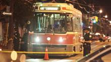 The Special Investigations Unit is looking into a shooting involving Toronto police, who were investigating a man on a streetcar on Dundas Street west of Bathurst early Saturday morning. (John Hanley For the Globe and Mail)