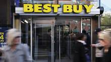 The entrance to the Best Buy store is seen in New York, March 26, 2012 (Shannon Stapleton/Reuters)