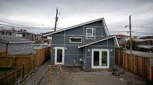 A Vancouver laneway house under construction on Knight St. in Vancouver October 29, 2010. (John Lehmann/The Globe and Mail/John Lehmann/The Globe and Mail)