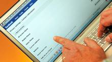 Facebook privacy settings are shown in San Francisco, Thursday, Dec. 17, 2009. (AP Photo/Russel A. Daniels) (Russel A. Daniels/Russel A. Daniels/AP)