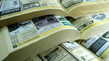 Yellow Pages Ltd. said on Monday it is dropping home delivery in 'select neighbourhoods and areas' over the next 12 to 18 months, starting with Brampton, Mississauga and Oakville, Ont. (ROGAN MACDONALD/BLOOMBERG NEWS)