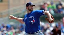Toronto Blue Jays starting pitcher Brad Penny throws a pitch during the first inning against the Houston Astros at Osceola County Stadium on March 17, 2016 in Kissimmee, Fla. (Kim Klement/USA Today Sports)