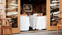 A massage with the Pacific Ocean crashing nearby? Cupid's work will be easy. At the Wickaninnish Inn on Vancouver Island. (Anthony Redpath)