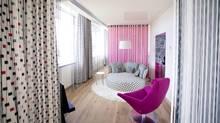 A room at Missoni Edinburgh shows off the fashion house's colours.