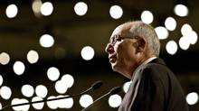 Edmonton Mayor Stephen Mandel makes his state-of-the-city speech on April 2, 2013. (JASON FRANSON FOR THE GLOBE AND MAIL)