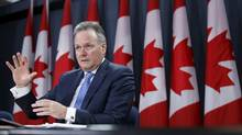 Bank of Canada Governor Stephen Poloz speaks during a news conference on April 15, 2015. (Chris Wattie/Reuters)