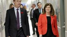 Canada's Federal Minister of Health Rona Ambrose and Gregory Taylor, Chief Public Health Officer tour the Level 4 lab at the National Microbiology Lab in Winnipeg, Manitoba November 3, 2014. (LYLE STAFFORD/REUTERS)