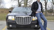 Jonathan Scott and his Chrysler 300. (J.P. MOCZULSKI For The Globe and Mail)