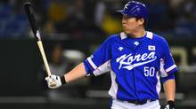 Hyun-soo Kim of South Korea hit .326 with 28 HRs and 121 RBIs for the Korea Baseball Organization's Doosan Bears in 2015. (Masterpress/Getty Images)