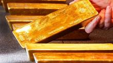 Various gold bars, are displayed in the German central bank's headquarters in Frankfurt, Germany, Thursday, Feb. 9, 2017. (AP Photo/Michael Probst)