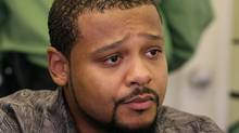 U.S. war resister Rodney Watson, of Kansas City, Kan., looks on during a news conference at First United Church where he has taken refuge in Vancouver, B.C., on Monday October 19, 2009. Watson, a cook with the U.S. Army, was ordered to leave Canada by September 11, 2009 or he would face deportation. (DARRYL DYCK/Darryl Dyck/ The Canadian Press)