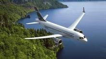 The Bombardier CS300 is shown in this company artist's rendering. (HO/THE CANADIAN PRESS)