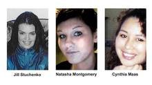 Victims Jill Stuchenko, Natasha Montgomery and Cynthia Maas are shown in B.C. RCMP handout photos. Mounties in Prince George, B.C., say they've connected the deaths of four women to a suspected serial killer.After a 10-month investigation, police have charged Cody Legebokoff with three counts of first-degree murder. (THE CANADIAN PRESS)