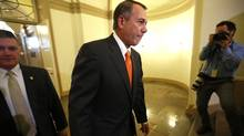 Speaker of the House John Boehner arrives at the U.S. Capitol in Washington October 16, 2013. (Kevin Lamarque/REUTERS)