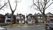 Homes on Palmerston Ave. in Toronto are photographed on Jan 26 2017. (Fred Lum/The Globe and Mail)