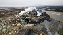 The Suncor tar sands processing plant near the Athabasca River at their mining operations near Fort McMurray, Alberta, in this file photo taken September 17, 2014. (TODD KOROL/REUTERS)