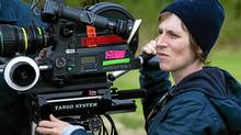 Director Kelly Reichardt on the set of her film WENDY AND LUCY. (Simon Max Hill/Oscilloscope Laboratories)