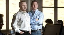 Jamie Lippay, left, and Michael Bolton, co-founders of Keyora Inc. (Kevin Van Paassen/KEVIN VAN PAASSEN/THE GLOBE AND MAIL)