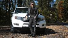 Canadian singer, songwriter, and composer Gino Vannelli with his Honda Ridgeline 4WD outide his Troutdale, Oregon studio. (Jonathan House For The Globe and Mail)