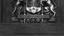 The coat of arms of Canada at the Supreme Court in 1949 Credit: Malak, Ottawa. (Malak, Ottawa)